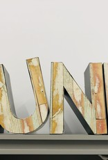 """Moon"" wood letters"