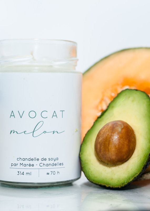 Chandelle de soya - Avocat Melon 314 ml