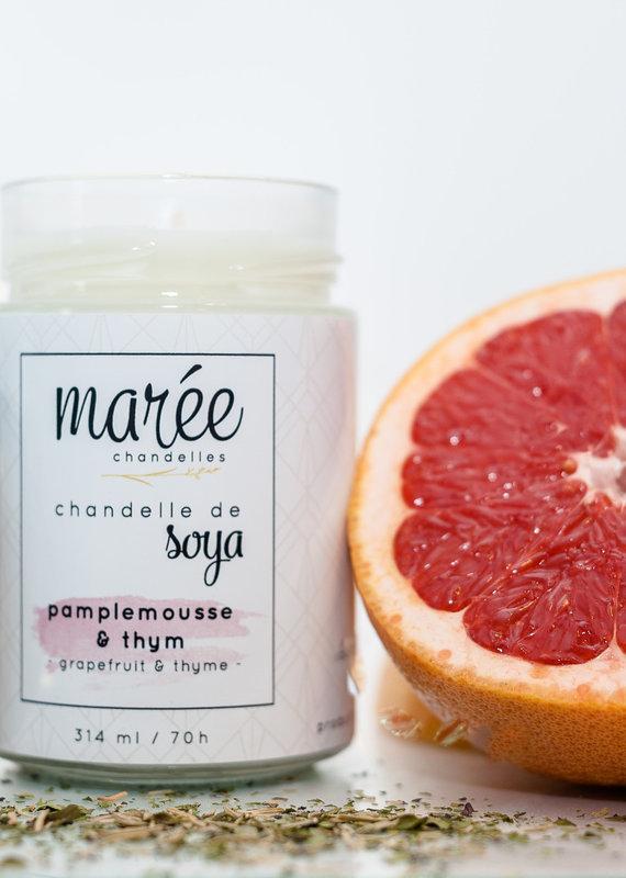 Chandelle de soya - Pamplemousse & Thym 314 ml