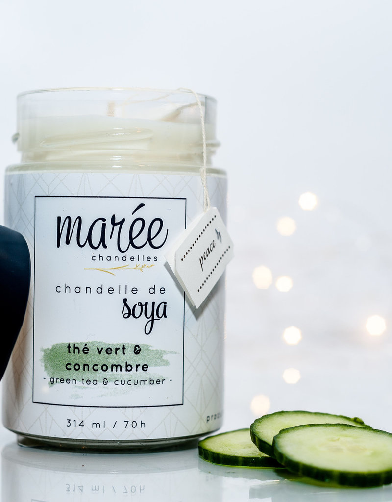 Chandelle de soya - Thé vert & Cocombre 314 ml