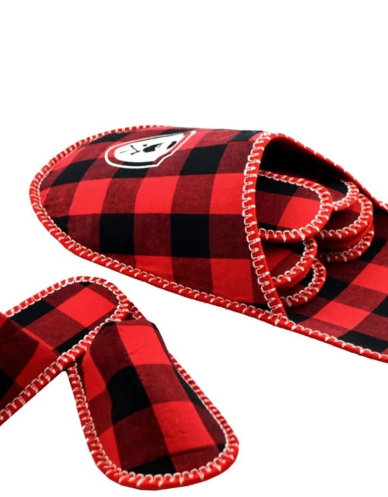 Pantoufle rouge et noire