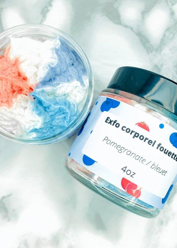 Exfo corporel fouetté - Pomme grenade bleuet 4oz