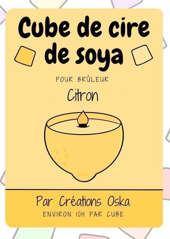 Cube de cire - Citron