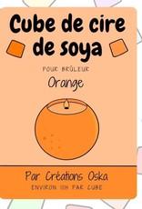 Cube de cire - Orange