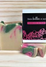 Framboises en folie-savon artisanal
