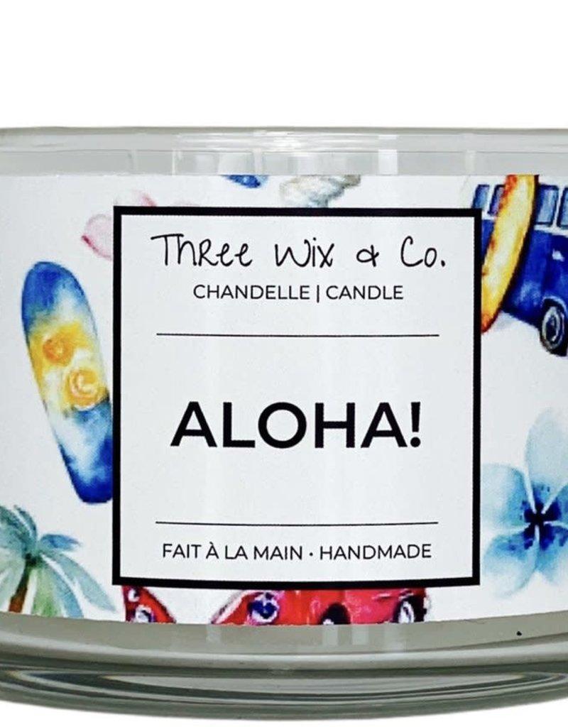 Chandelle Three Wix & Co - Aloha! 12oz