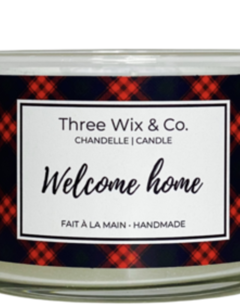 Chandelle Three Wix & Co - Welcome home 12oz