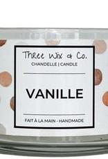 Chandelle Three Wix & Co - Vanille 12oz