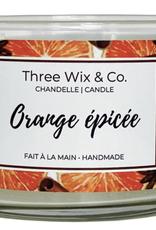 Chandelle Three Wix & Co - Orange épicée 12oz