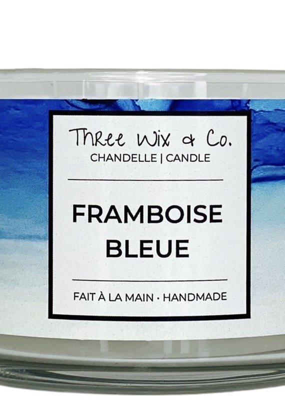 Chandelle Three Wix & Co - Framboise bleue 12oz