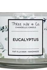 Chandelle Three Wix & Co - Eucalyptus 12oz