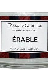 Chandelle Three Wix & Co - Érable 12oz