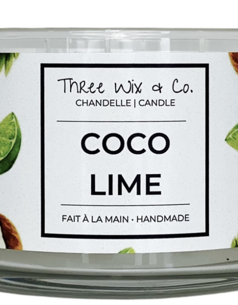 Chandelle Three Wix & Co - Coco Lime 12oz