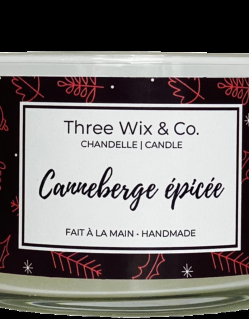 Chandelle Three Wix & Co - Canneberge épicée 12oz