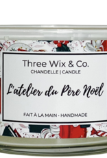 Chandelle Three Wix & Co - L'atelier du père Noël 12oz
