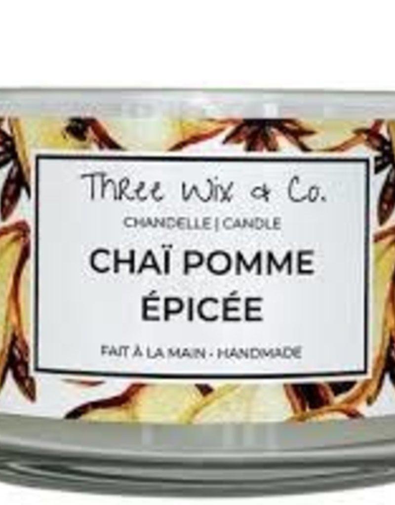 Chandelle Three Wix & Co - Chaï pomme épicée 12oz