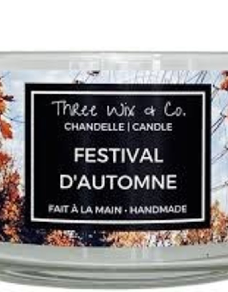 Chandelle Three Wix & Co - Festival d'automne 12oz