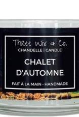 Chandelle Three Wix & Co - Chalet d'automne 12oz