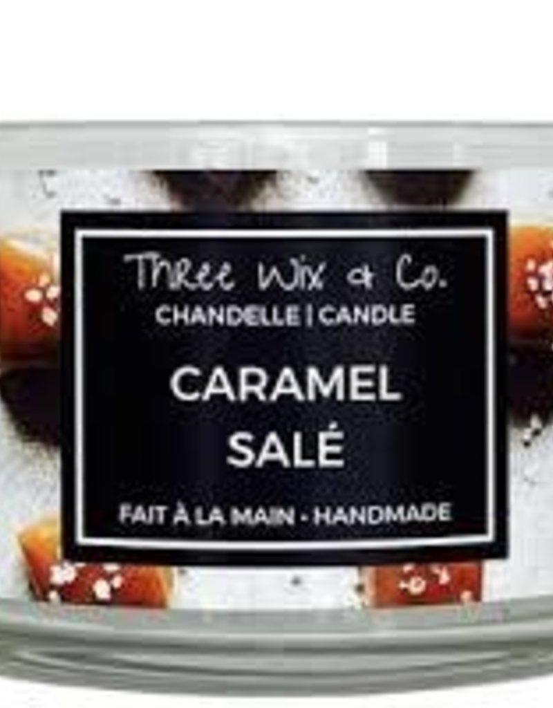 Chandelle Three Wix & Co - Caramel salé 12oz