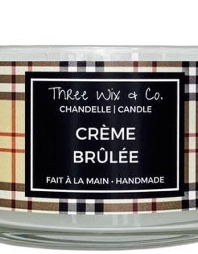 Chandelle Three Wix & Co - Crème brûlée 12oz