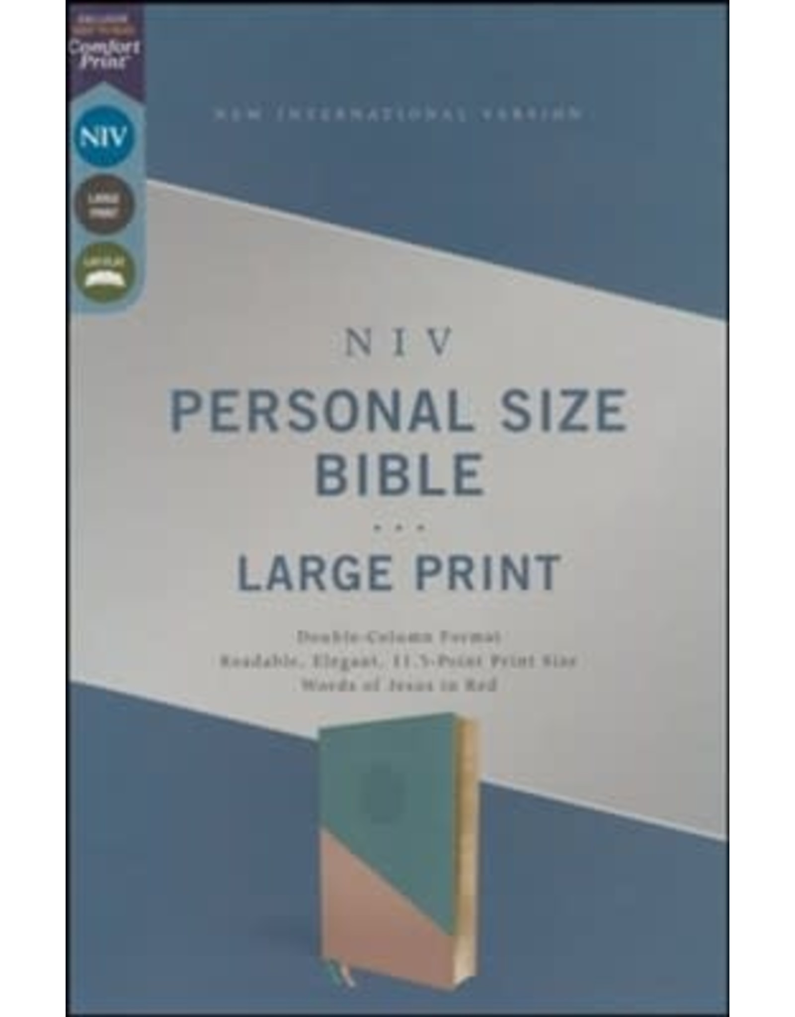 NIV Personal Size Bible, Teal/Gold