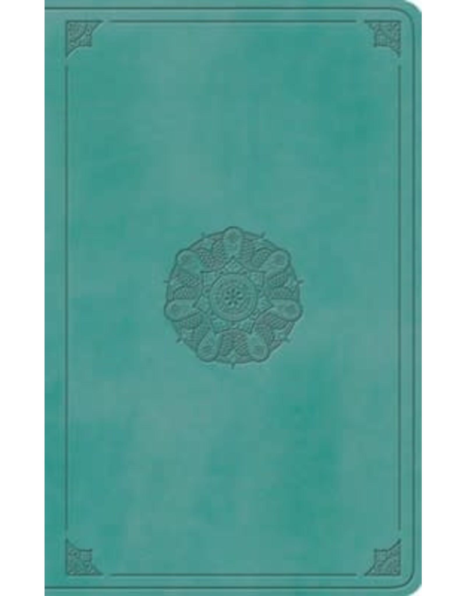 ESV Large Print Value Thinline Bible, Turquoise
