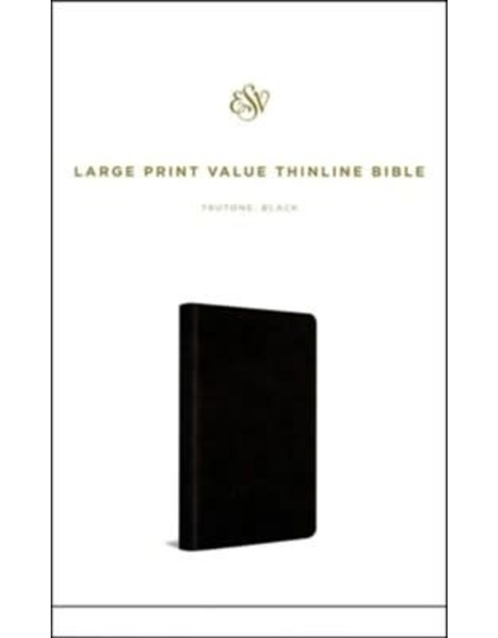 ESV Large Print Value Thinline Bible, Black