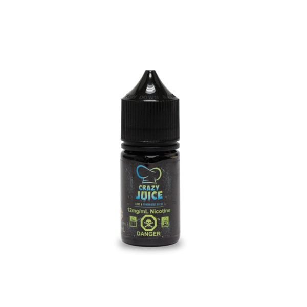 Crazy Juice Lime and Blue Raspberry Salt