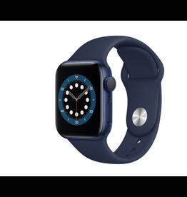 APPLE APPLE WATCH SERIES 6 GPS, 40MM BLUE ALUMINUM CASE W/ DEEP NAVY SPORT BAND - REGULAR