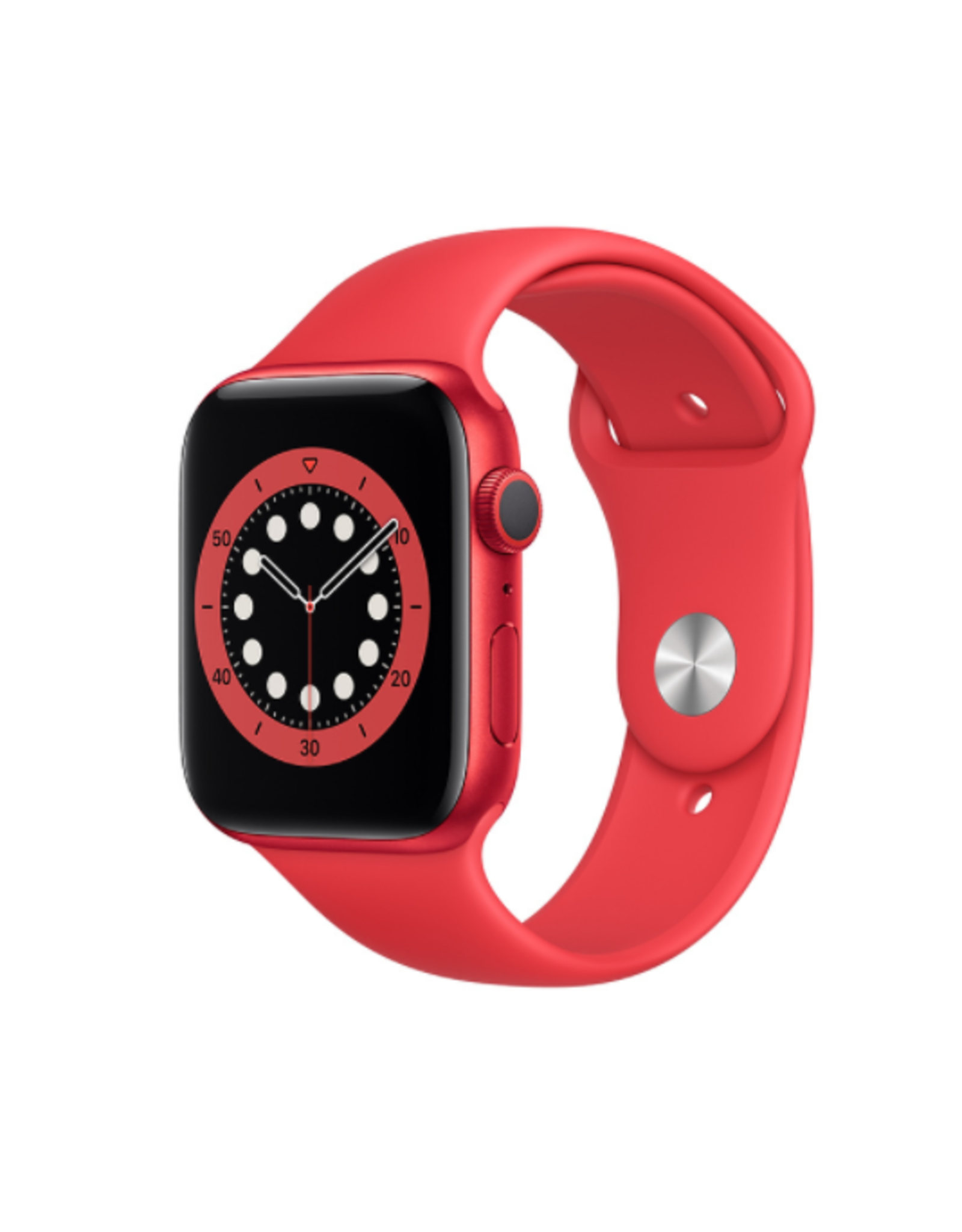APPLE APPLE WATCH SERIES 6 GPS, 44MM PRODUCT(RED) ALUMINUM CASE W/ PRODUCT(RED) SPORT BAND - REGULAR