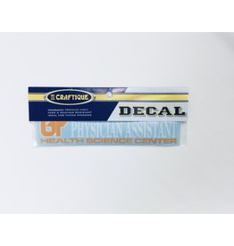 DECAL PHYSICIANS ASSISTANT 6IN