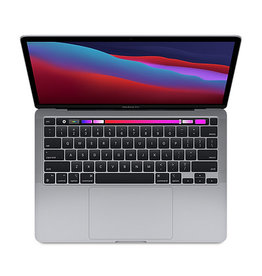APPLE SPACE GRAY 13-INCH MACBOOK PRO W/ TOUCH BAR: APPLE M1 CHIP W/ 8-CORE CPU, 8-CORE GPU, & 16-CORE NEURAL ENGINE, 8GB MEMORY, 512GB SSD STORAGE, RETINA DISPLAY W/ TRUE TONE, MAGIC KEYBOARD, TOUCH ID, FORCE TOUCH TRACKPAD, 2 THUNDERBOLT/USB 4  - MYD92LL/A