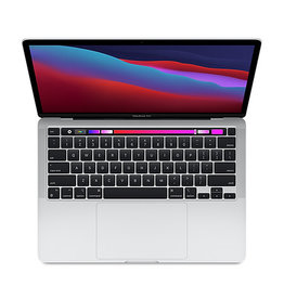 APPLE SILVER 13-INCH MACBOOK PRO W/ TOUCH BAR: APPLE M1 CHIP W/ 8-CORE CPU, 8-CORE GPU, & 16-CORE NEURAL ENGINE, 8GB MEMORY, 256GB SSD STORAGE, RETINA DISPLAY W/ TRUE TONE, MAGIC KEYBOARD, TOUCH ID, FORCE TOUCH TRACKPAD, 2 THUNDERBOLT/USB 4 PORT (MYDA2LL/A)