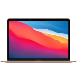 APPLE GOLD  13-INCH MACBOOK AIR: APPLE M1 CHIP W 8-CORE CPU, 8-CORE GPU, & 16-CORE NEURAL ENGINE, 8GB UNIFIED MEMORY, 512GB SSD STORAGE, RETINA DISPLAY W TRUE TONE, MAGIC KEYBOARD, TOUCH ID, FORCE TOUCH TRACKPAD, TWO THUNDERBOLT/USB 4 PORTS (MGNE3LL/A)
