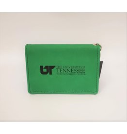 LXG VELOUR ID HOLDER - GREEN