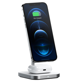 SATECHI SATECHI 2-N-1 MAGNETIC WIRELESS CHARGING STAND - SPACE GRAY
