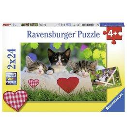 Ravensbuger Sleepy Kittens 2 X 24