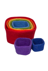 Papoose Stacking Cubes Rainbow 7 Pcs