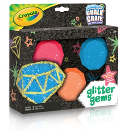 Crayola Glitter Gems 3ct Sidewalk Chalk