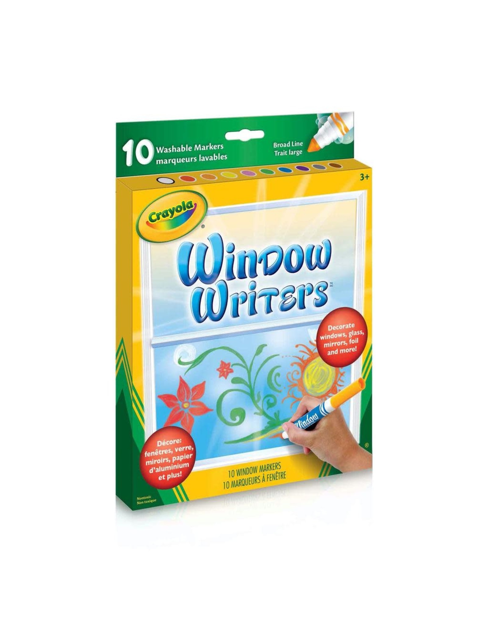 Crayola 10 Window Writers Washable