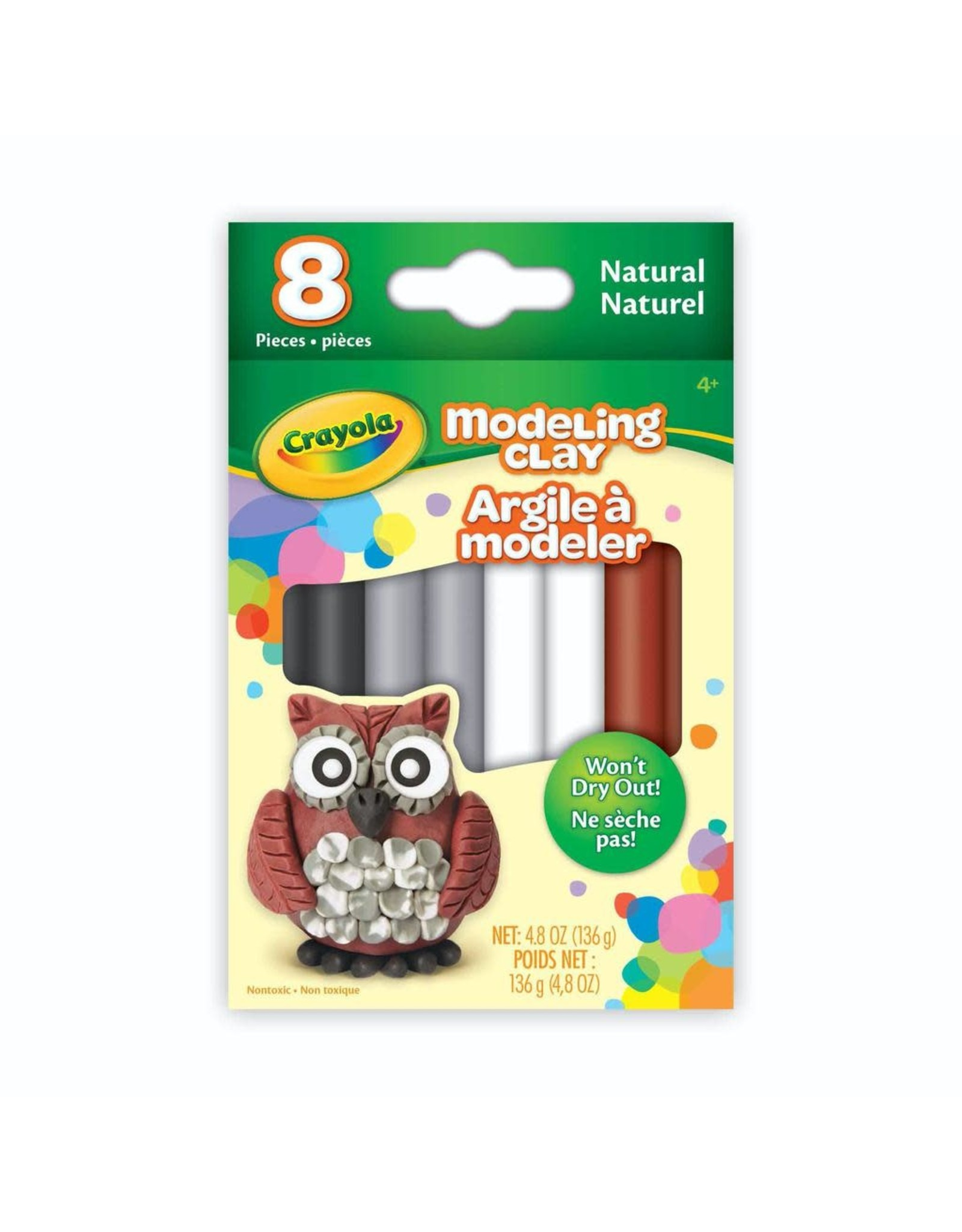 Crayola Modelling Clay, 8 Natural Colours