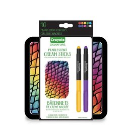 Crayola Signature Pearlescent Cream Sticks 10ct