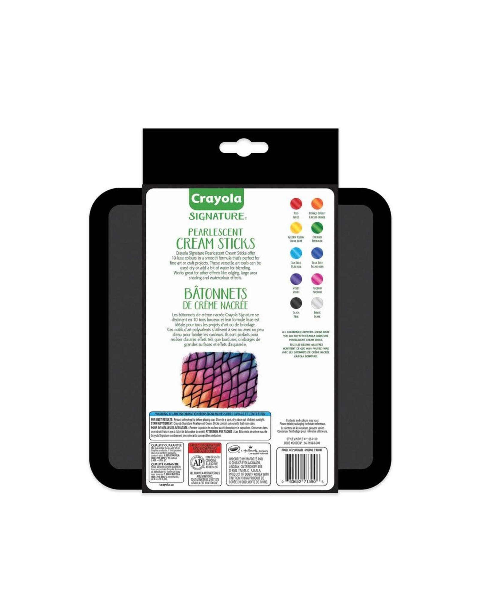 Crayola Signature Pearlescent Cream Sticks 10ct