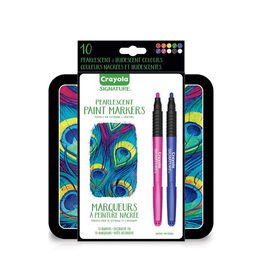 Crayola Signature Pearlescent Paint Markers 10ct