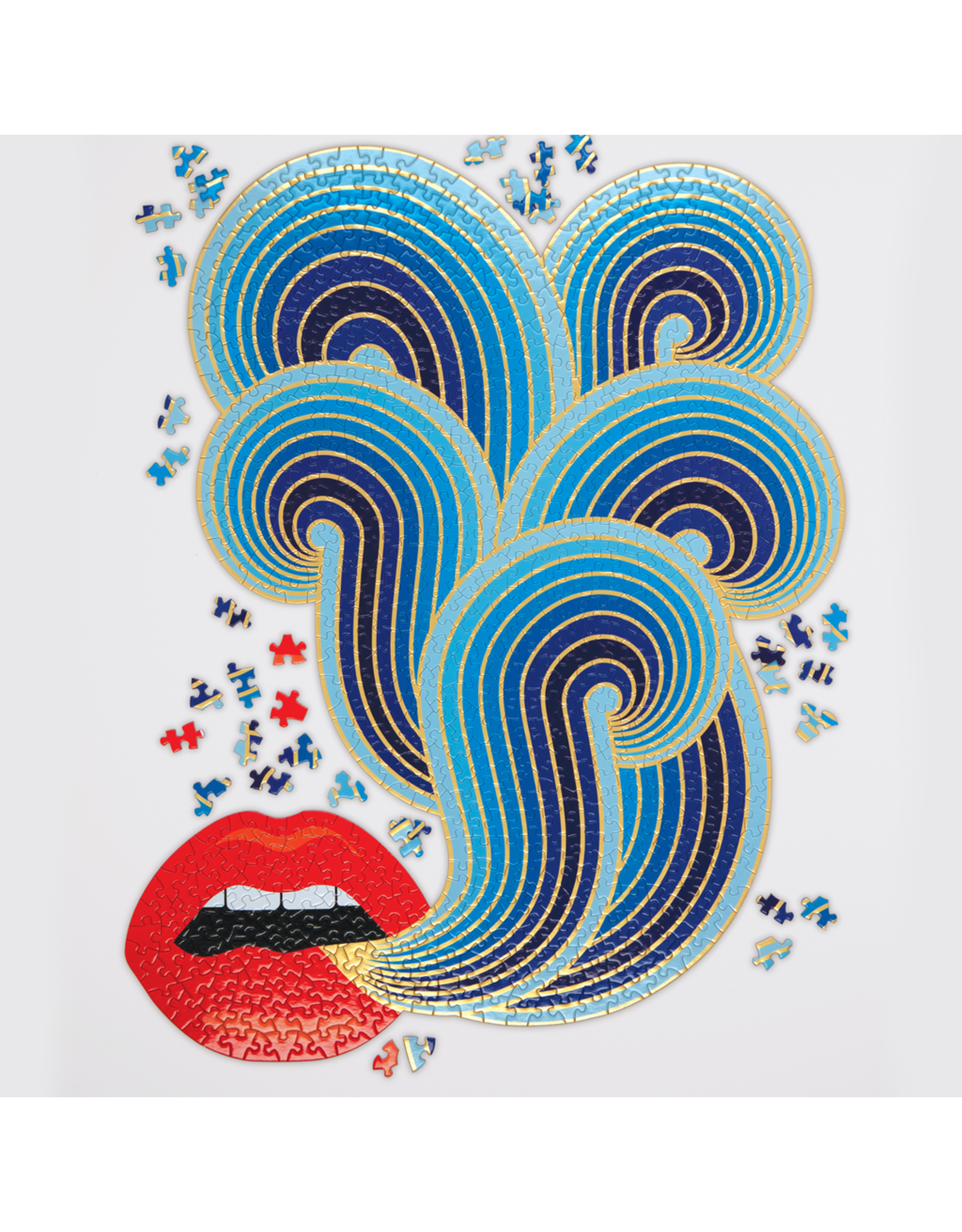 Galison Jonathan Adler 750 Piece Lips Shaped Puzzle