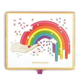 Galison Jonathan Adler Rainbow Hand 750 Piece Shaped Puzzle
