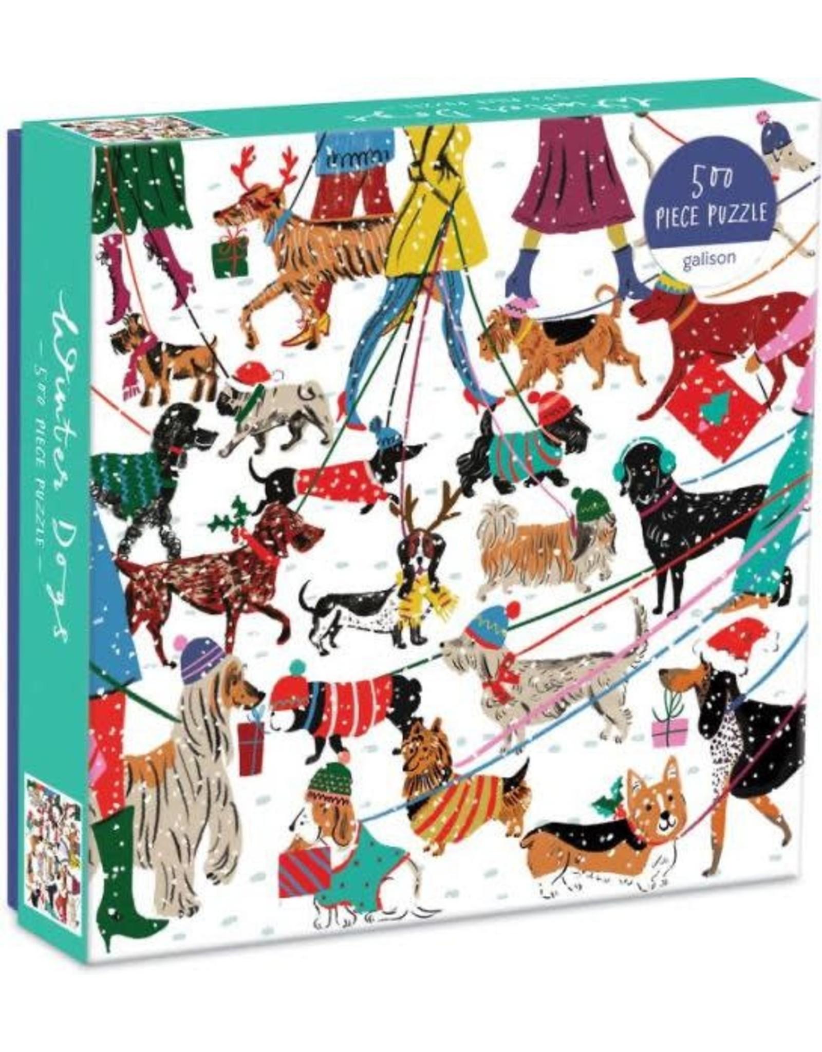 Galison Winter Dogs 500 Piece Puzzle