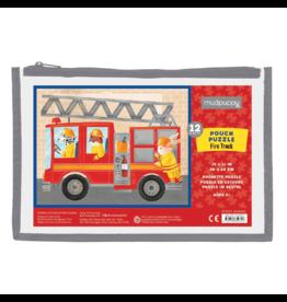 Mudpuppy Fire Truck Pouch Puzzle