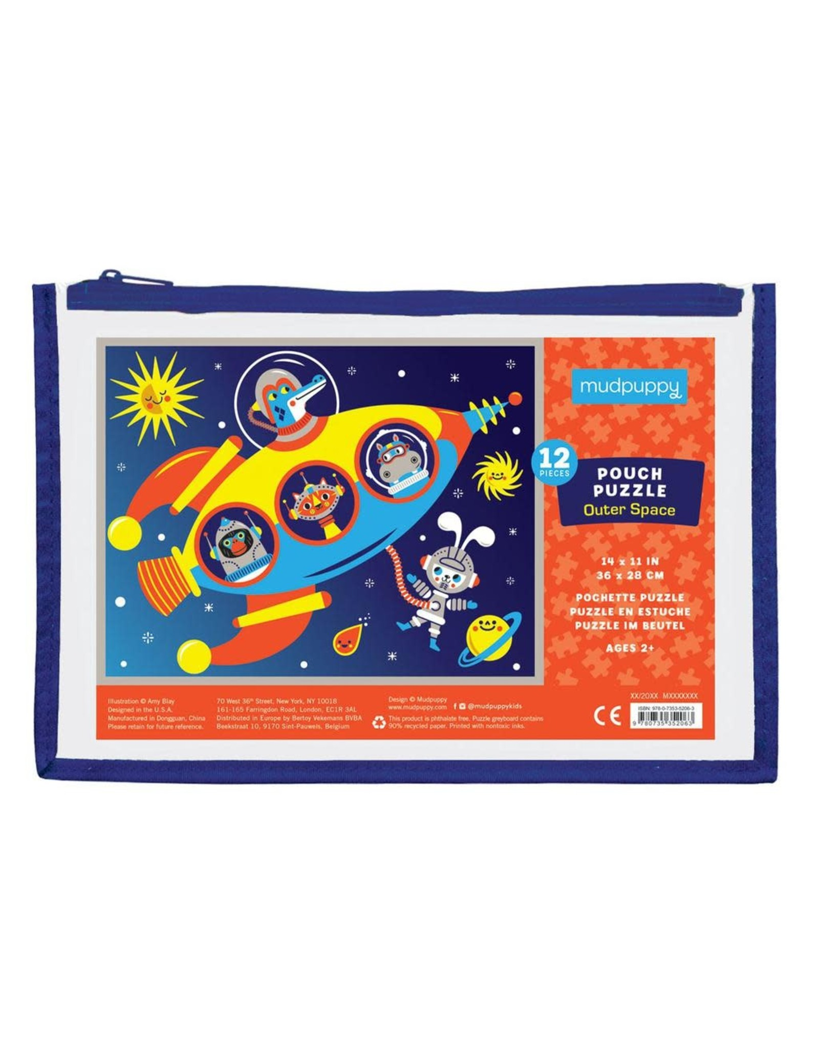 Mudpuppy Outer Space Pouch Puzzle