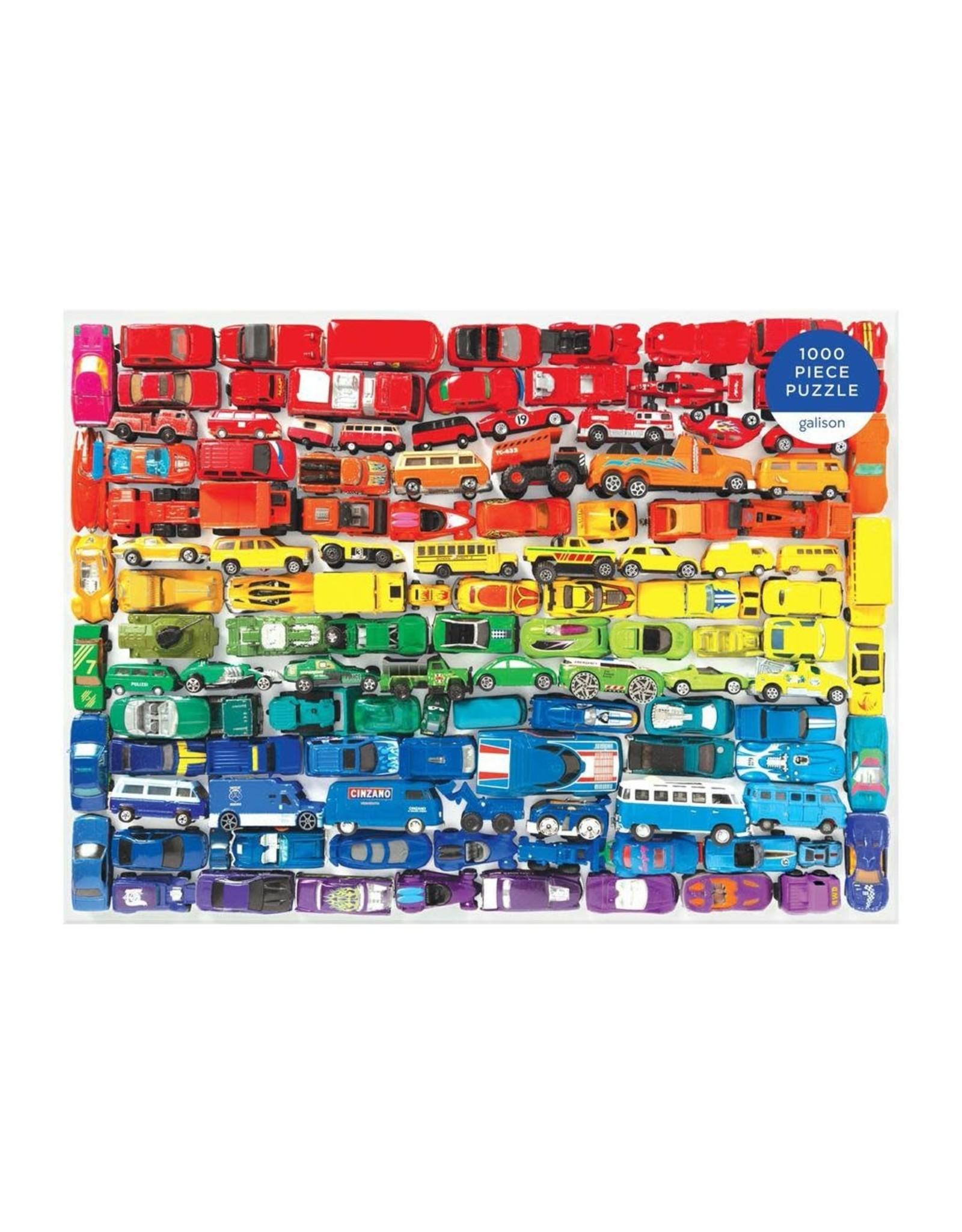 Galison Rainbow Toy Cars 1000 Pc Puzzle
